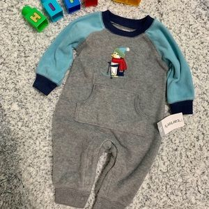 *NWT* Carter's Fleece Penguin Coverall